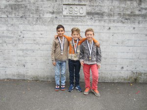 v.l.n.r.: Silber: Jamie; Gold: Marvin; Bronze: Björn