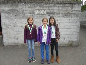 v.l.n.r.: Silber: Jael; Gold: Lavinja; Bronze: Catalina