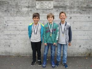 v.l.n.r.: Silber: Altin; Gold: Noe; Bronze: Tristan
