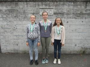 v.l.n.r.: Silber: Kim; Gold: Altina; Bronze: Elisa