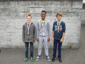 v.l.n.r.: Silber: Tim; Gold: Lee; Bronze: Nils