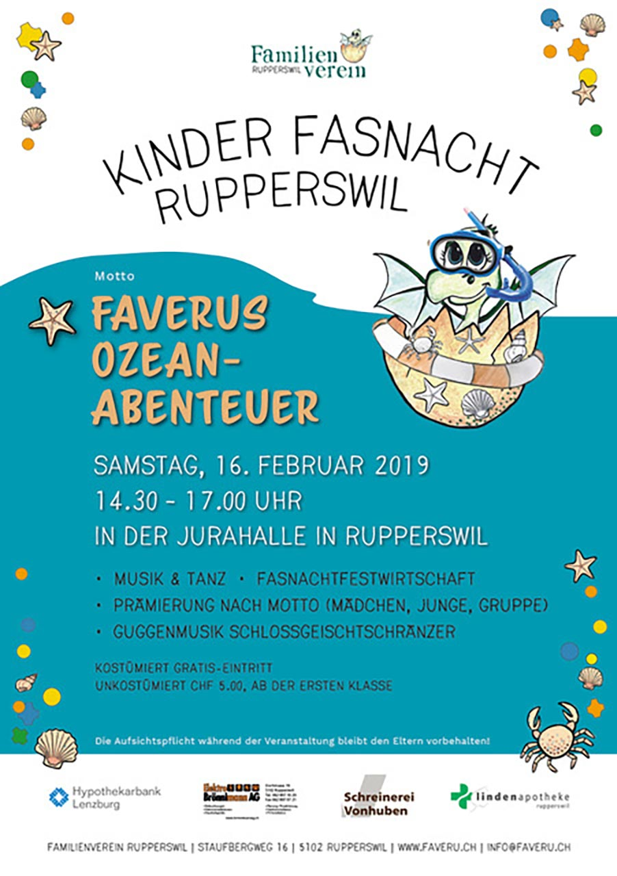 Kinder Fasnacht Rupperswil 16.2.2019